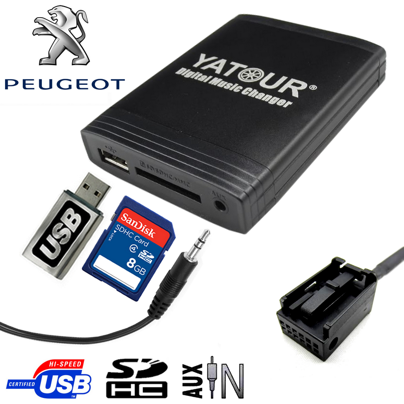 INTERFACE USB .SD.AUX PARA CITROEN PEUGEOT RD4