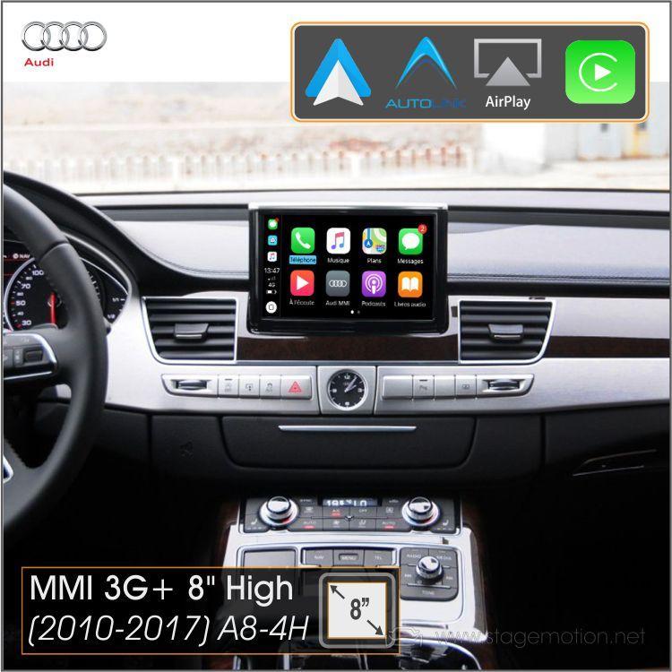 Kit Plus Audi A8(4H 2011-2016) Car-Play Wireless + Android Auto + Mirror-Link + USB + Visión 180º