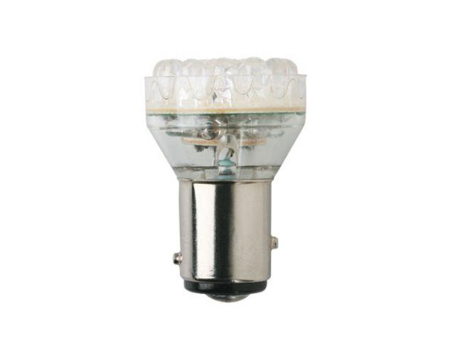 LAMPARA LED 112V 21W BA15S 1 POLO BLANCA