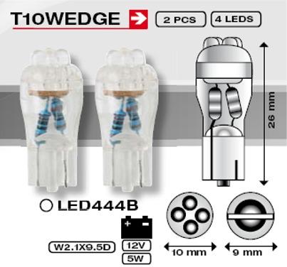 LAMPARA LED 12V T10-WEDGE BLANCA