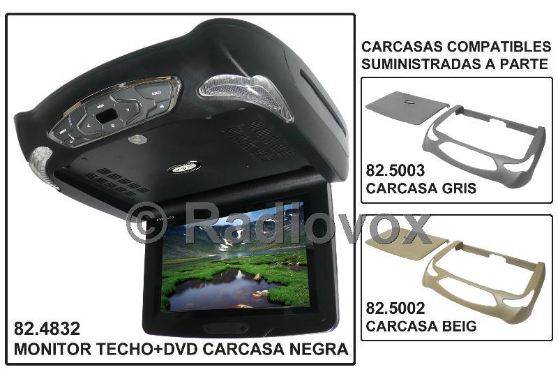 """MONITOR TFT 10.2 """"/DVD-TECHO NEGRO"""