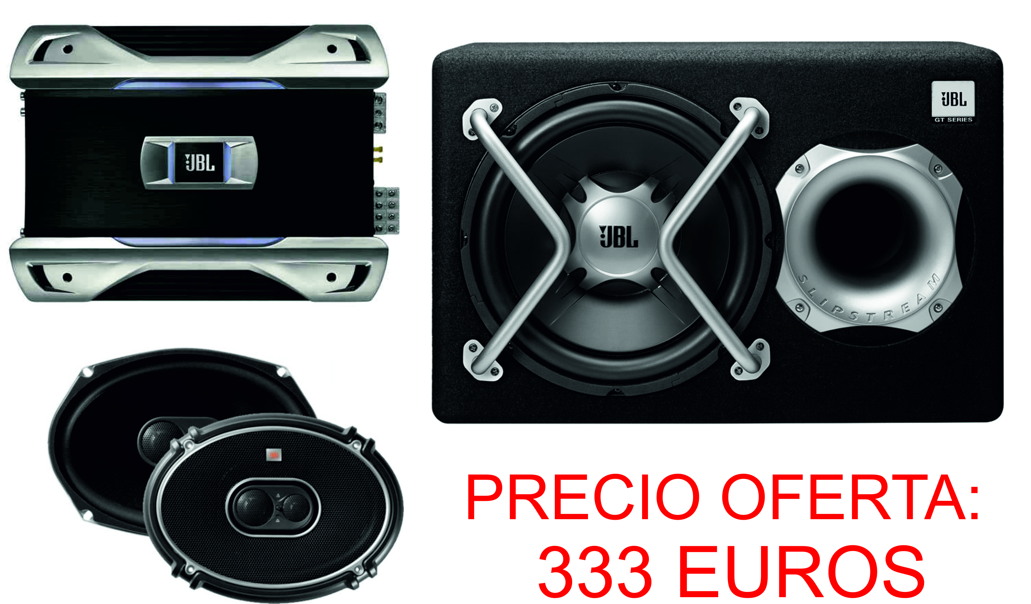 PACK JBL GTO938+504+GT5-1204BR