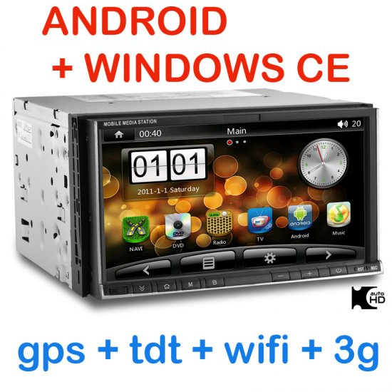 PANTALLA DOBLE DIN 3G WIFI Y GPS CON ANDROID