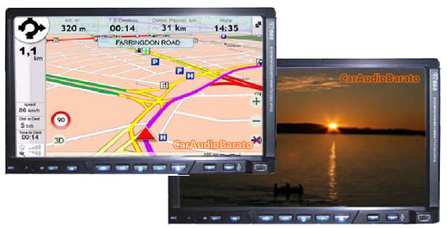 "PANTALLA DOBLE DIN 7"" SPEED SOUND GPS BLUETOOTH"