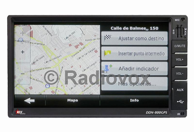 PANTALLA DOBLE DIN CON NAVEGACION GPS