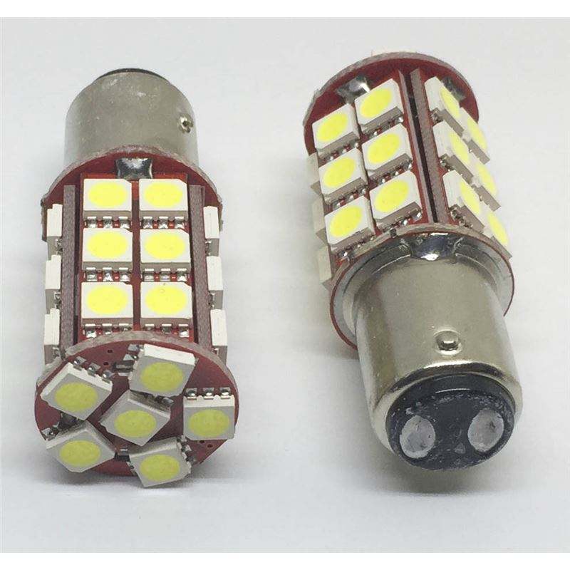 PAREJA BOMBILLAS LED 2 POLOS 6W /P21