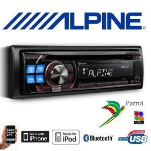 RADIO CD MM3 ALPINE CON USB Y BLUETOOTH IN AUX