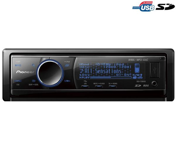 RADIO CD MP3 PIONEER CON USB ,SD,IN AUX.CARATULA ABATIBLE