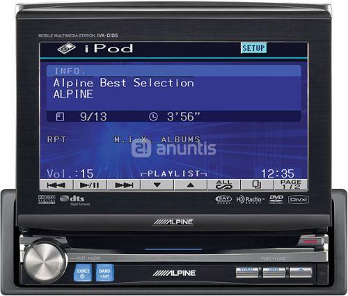 RADIO MONITOR ALPINE +BLUETOOTH REGALO