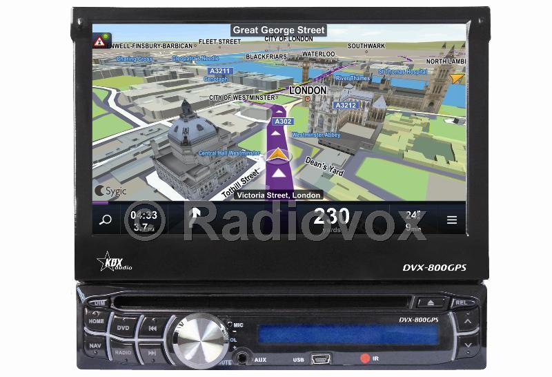 RADIO MONITOR CON GPS 1 DIN