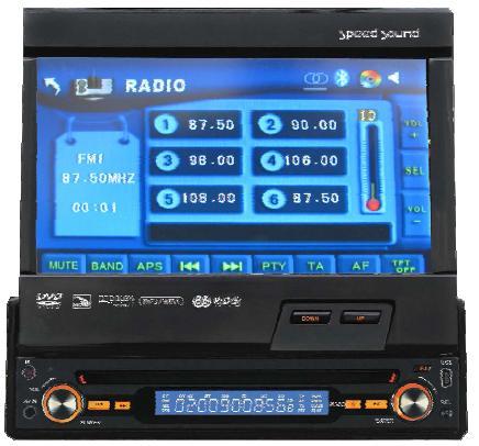 "RADIO MONITOR SPEED SOUND 7""SD USB,BLUETOOTH 4X50W"